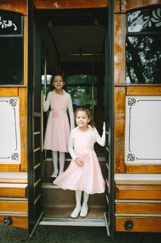 Flower girl dresses from Nordstrom. Shoes from Stride Rite. Transportation by Absolutely Charleston. Image by Juliet Elizabeth Photography.