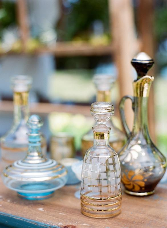 Decanters from Ooh! Events and Polished. Photograph by Marni Rothschild Pictures.