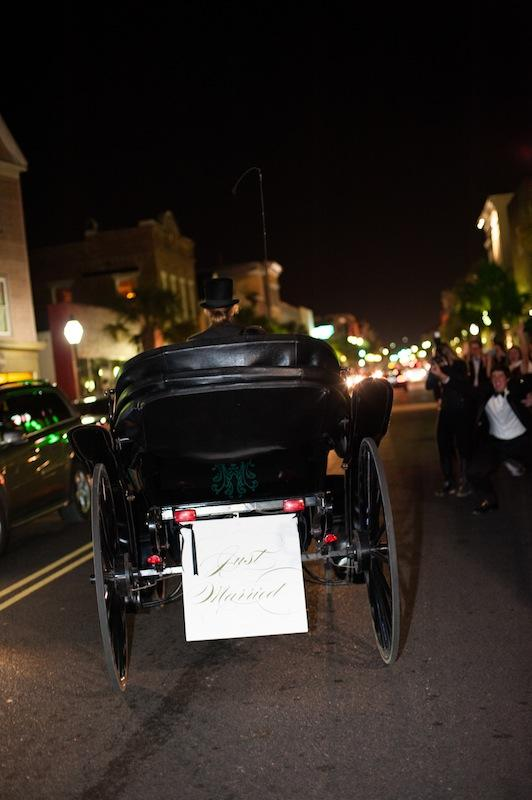 Getaway vehicle by Charleston Coach Carriage. Image by Marni Rothschild Pictures.
