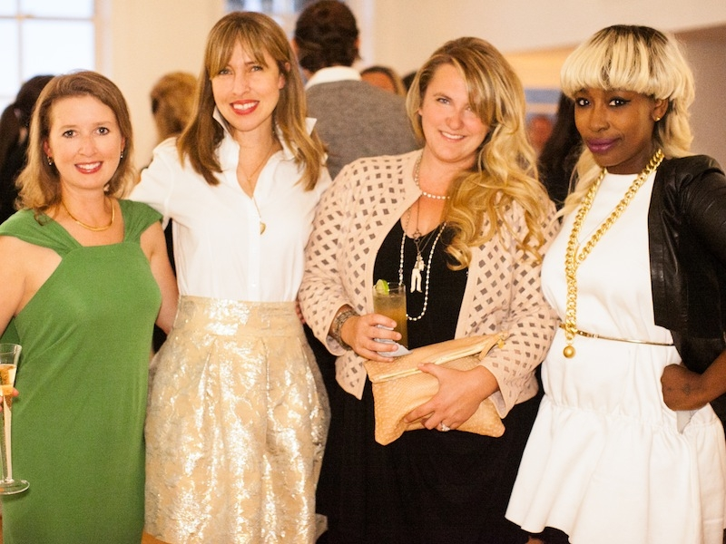 Della MacNicholas, Melissa Bigner, Corbin Gurkin, and Charleston Weddings Style Director Ayoka Lucas