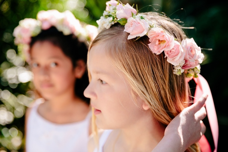 Flower crowns by Branch Design Studio. Image by Dana Cubbage Weddings.