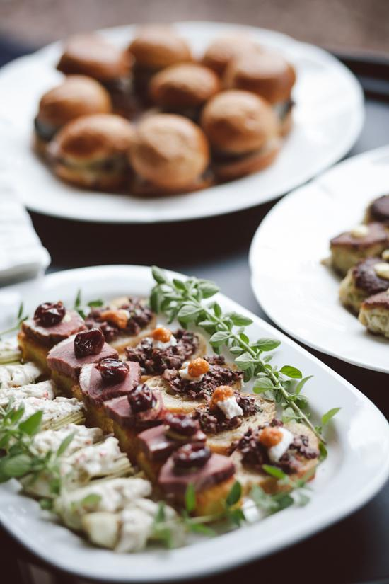 KEY INGREDIENT: Guests nibbled on roast beef, mini sliders, crab cakes and more from Cassique at The Kiawah Island Club.