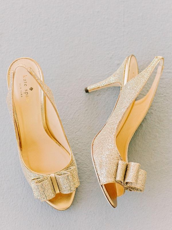 Bride's shoes by Kate Spade. Image by Amy Arrington Photography.
