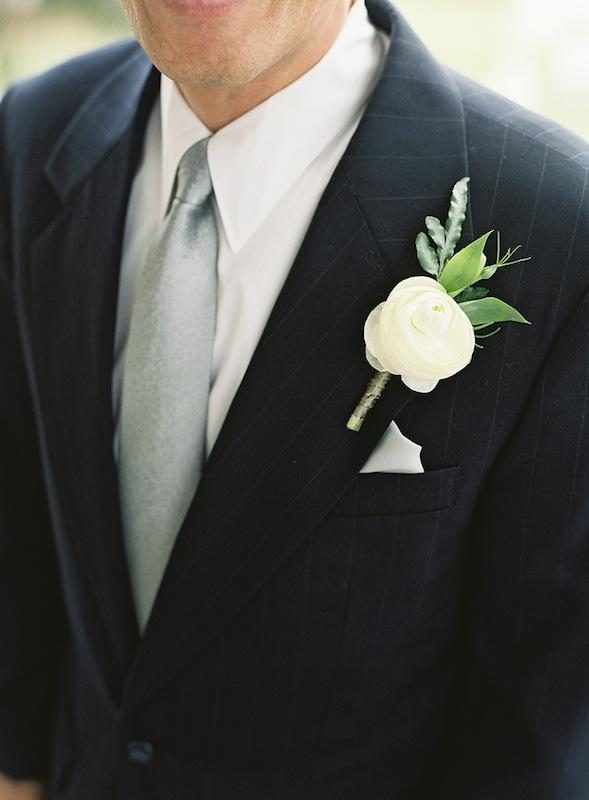 Boutonniere by Sara York Grimshaw Designs. Suit by Burberry. Tie by J.Crew. Image by Virgil Bunao Photography.