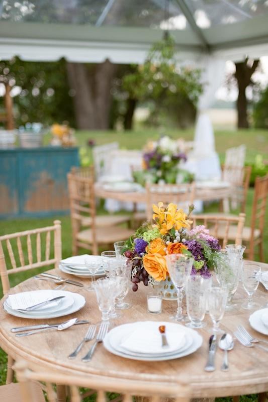 Tablescape and rentals from Ooh! Events. Place settings and crystal from Polished. Photograph by Marni Rothschild Pictures.
