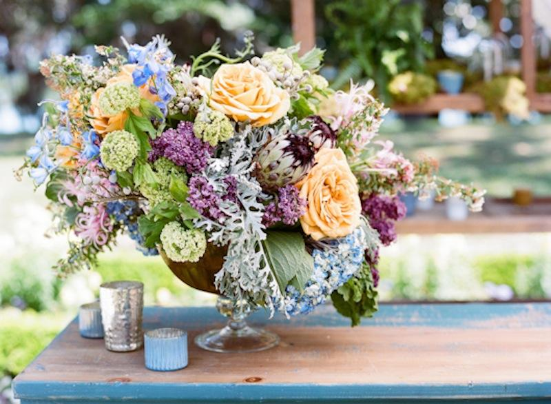 Florals by Out of the Garden. Photograph by Marni Rothschild Pictures.