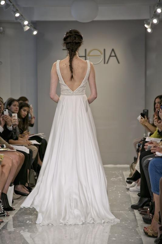 """THEIA White Collection's """"Nava."""" Available in Charleston through Gown Boutique of Charleston."""