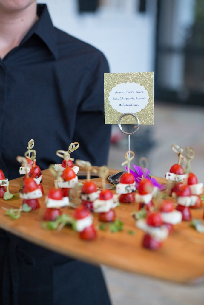 Catering by Cru Catering. Photograph by Marni Rothschild Pictures.