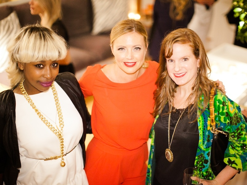 A few of our New York-based crew catches up: Ayoka Lucas and Andrea Tallent, director of business development and sponsorship sales for Baker Motor Company Charleston Fashion Week.