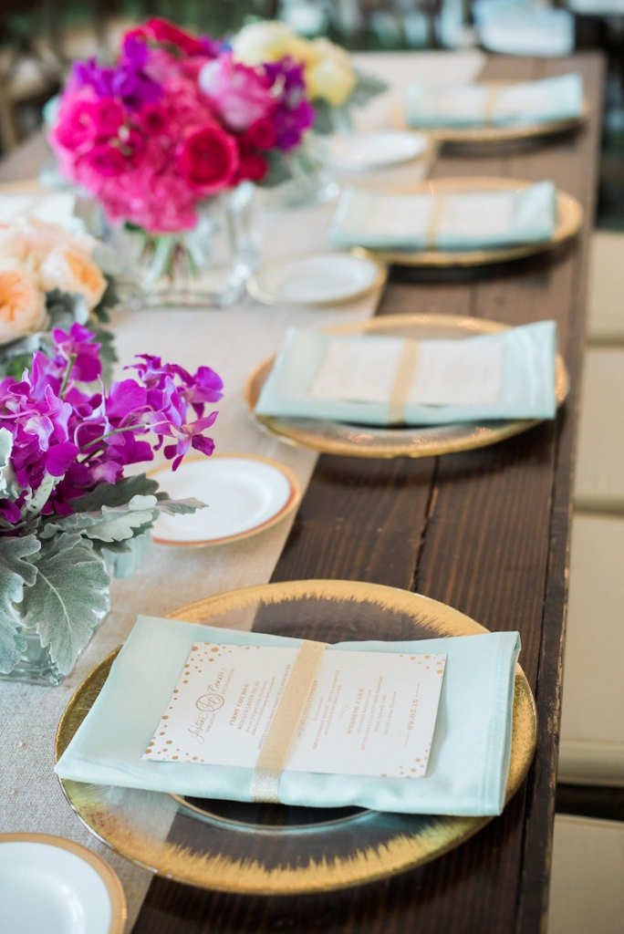 Menus by Studio R. Tabletop rentals from EventWorks. Event and floral design by Engaging Events. Photograph by Marni Rothschild Pictures.