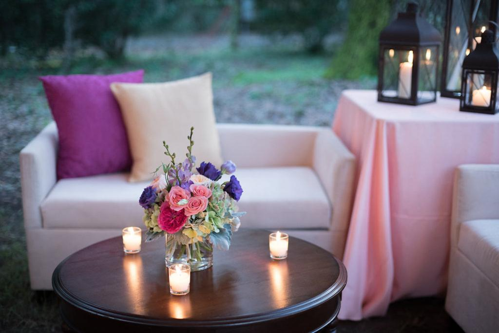 Event design and lounge rentals by Engaging Events. Photograph by Marni Rothschild Pictures at the Legare Waring House.