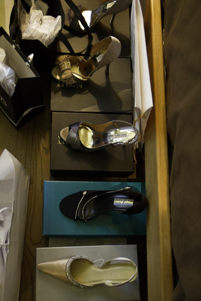 Shoe options for our bride du jour. Photograph by Jonathan Balliet.