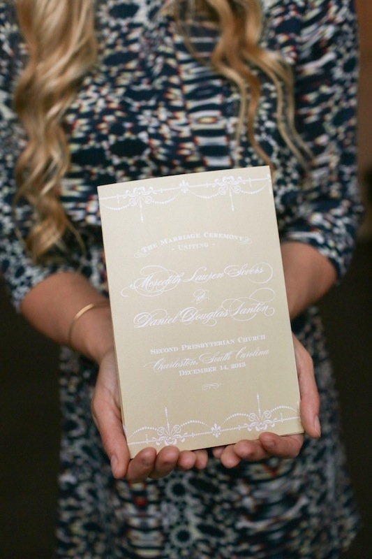 Ceremony program by Sixpence Press. Image by The Connellys.