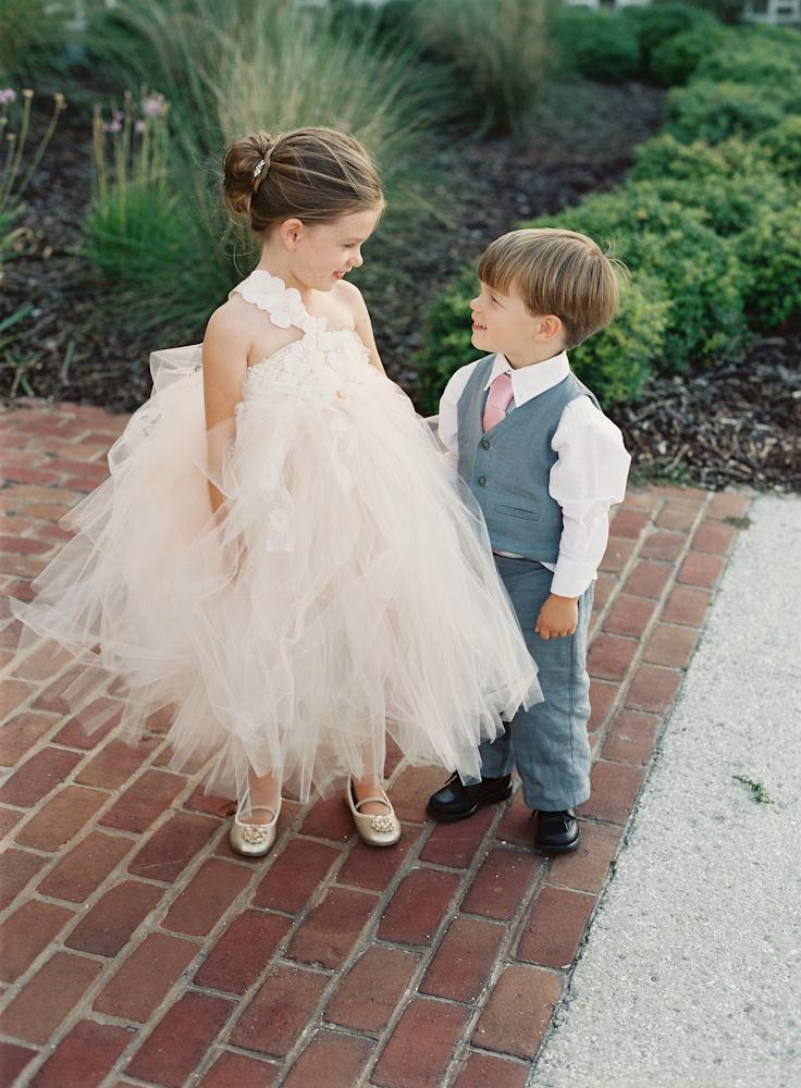 MINI-ME: Five-year-old Avery and her three-year-old brother Tate looked just as snazzy as the bride and groom.
