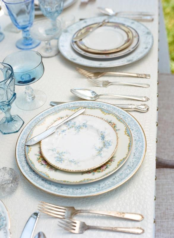 Place settings and crystal from Polished. Photograph by Marni Rothschild Pictures.