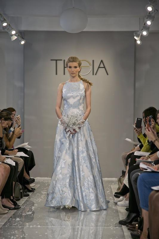 """THEIA White Collection's """"Erdene."""" Available in Charleston through Gown Boutique of Charleston."""