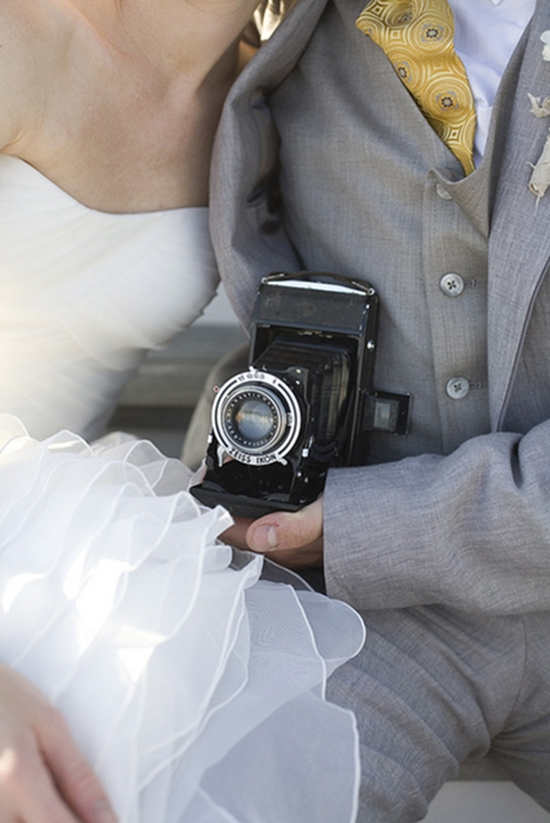 A KODAK MEMENTO: Accompanying the guest book were two antique cameras that belonged to Tiffany's grandfather.