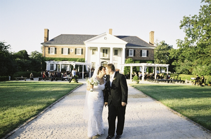 "ROMANTIC REEL: The pair wed in front of Boone Hall Plantation's main house, which appeared in the 2004 film ""The Notebook."""