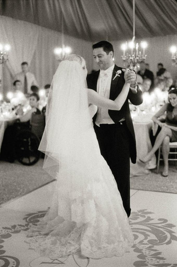"SPOTLIGHT STARS: The Valli Boys, a Jersey Boys cover band, provided the night's tunes, including the song for the couple's first dance. ""Everyone was singing, dancing, and laughing,"" says Ashley."