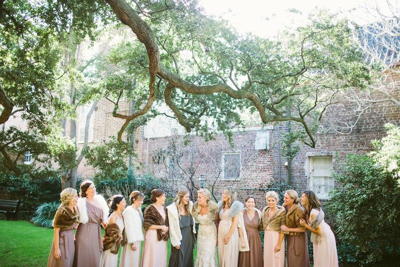 Bridal gown by Anne Barge from Fabulous Frocks. Bridesmaid dresses by Joanna August from Bella Bridesmaids. Image by Juliet Elizabeth Photography.