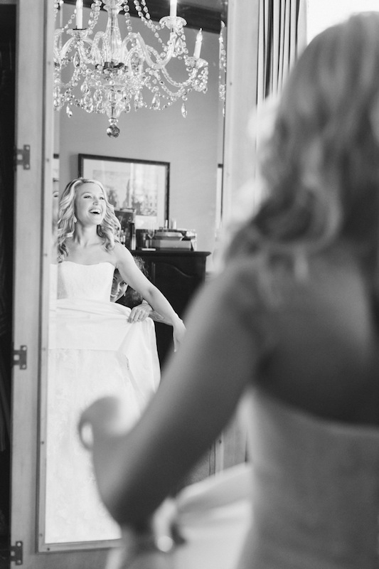 Bridal gown by Vera Wang, available in Charleston through Maddison Row. Bridal styling by Cacky's Bride + Aid. Image by Corbin Gurkin at the Wentworth Mansion.