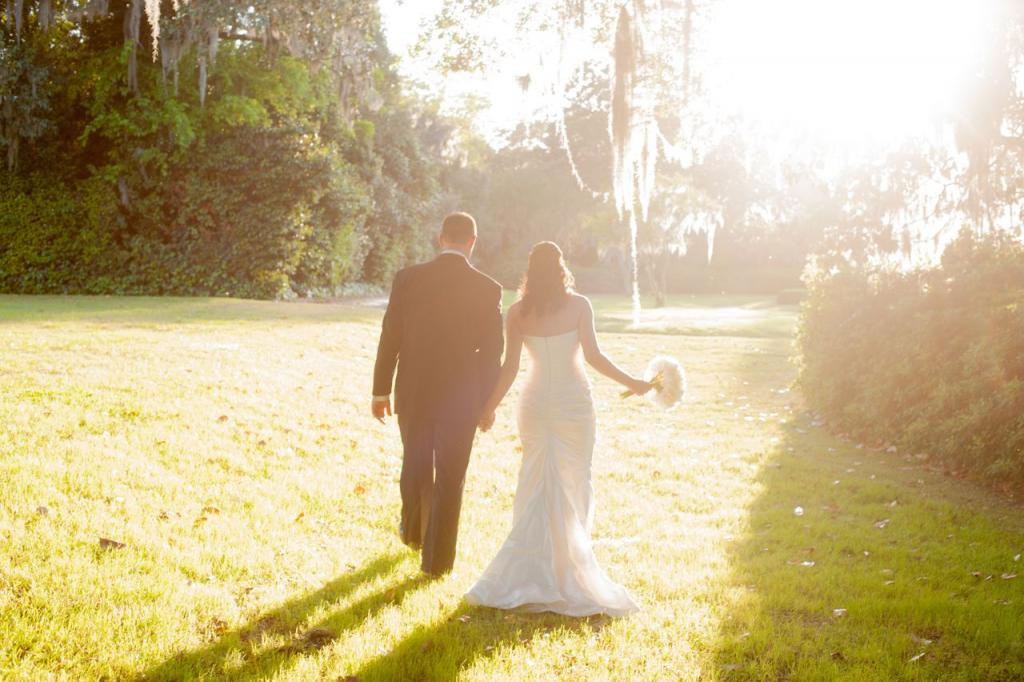 """SOUTHERN CHARM: """"The setting at the Middleton Place was absolutely incredible,"""" says D'Anne, adding that the plantation's Inn, and proximity to downtown (where they held their rehearsal dinner at Fish Restaurant), made for a fun-filled weekend for their visiting guests."""