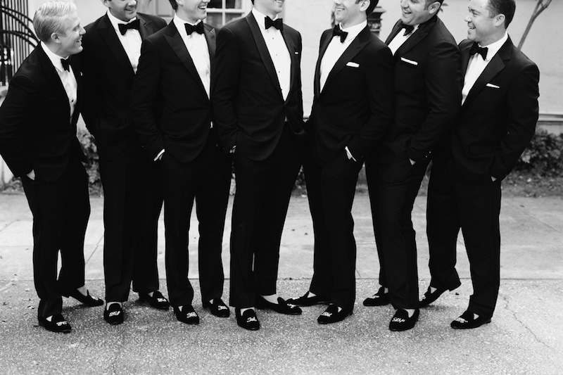 Groom and groomsmen attire by Ralph Lauren Black Label. Image by Corbin Gurkin.