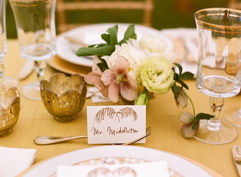 Tabletop by Southern Protocol. Florals by Stems. Place settings and crystal from Polished. Place card Menu by Ancesserie. Photograph by Marni Rothschild Pictures.