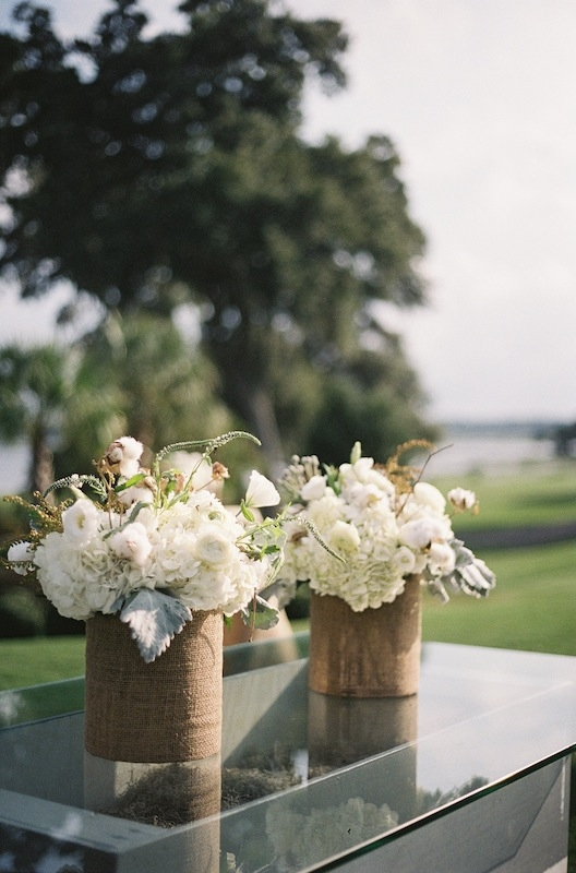 Florals by EM Creative Floral. Wedding design and coordination by Ashley Rhodes Event Design. Image by Ashley Seawell Photography at Dataw Island Club.