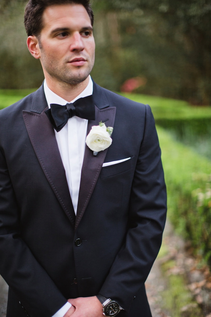 Menswear by Dolce & Gabbana. Boutonnière by Out of the Garden. Image by Clay Austin Photography.