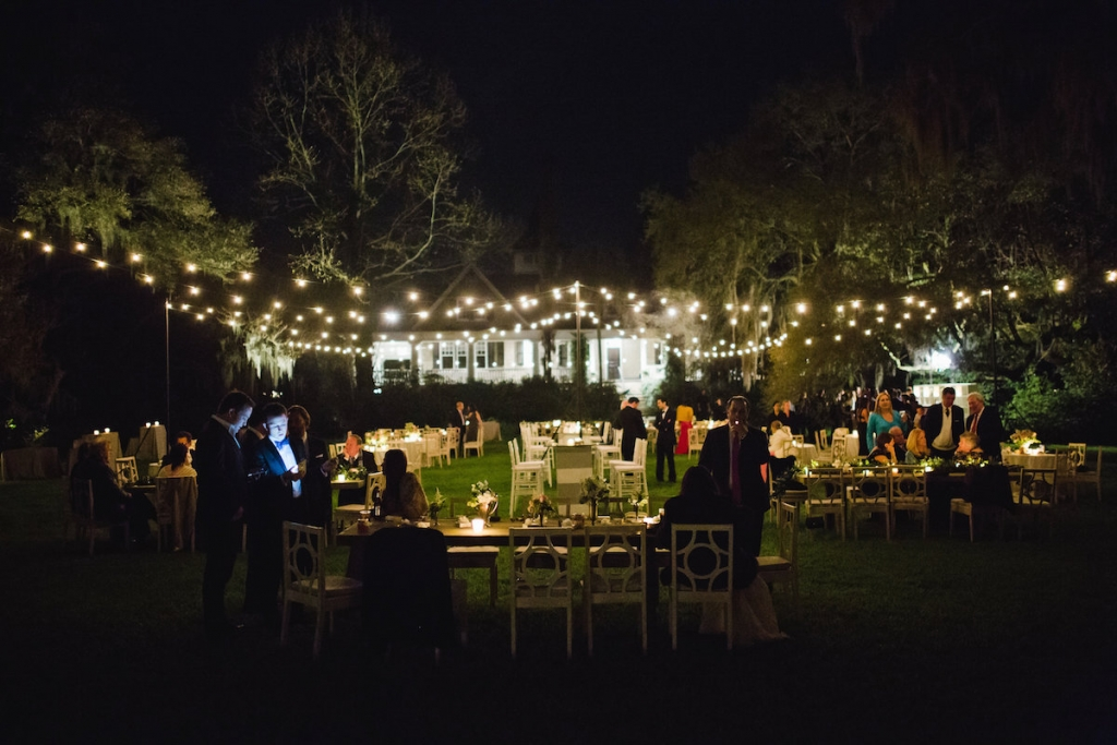 Wedding design and furniture by Ooh! Events. Image by Clay Austin Photography at Magnolia Plantation & Gardens.