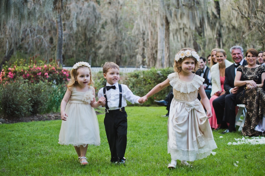 Flower girl dresses by Marks and Spencer. Image by Clay Austin Photography at Magnolia Plantation & Gardens.