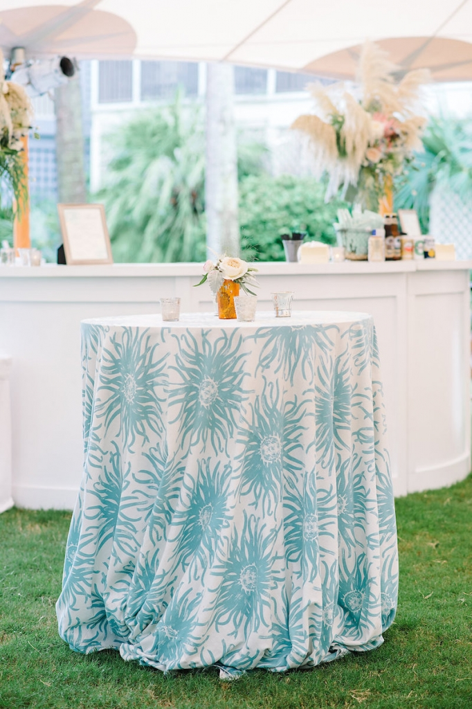 Linens from La Tavola. Wedding design by Sweetgrass Social. Image by Aaron and Jillian Photography.