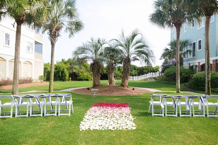 Wedding and floral design by Haley Kelly of A Charleston Bride. Image by Dana Cubbage Weddings at Wild Dunes Resort.
