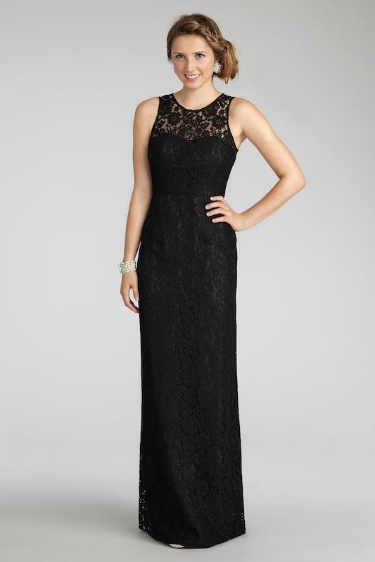 "Donna Morgan's ""Harper"" in Black. Available in Charleston through Bella Bridesmaids."