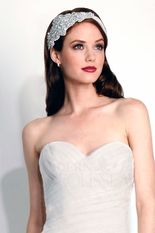 "Modern Trousseau's ""Bliss"" headband. Available in Charleston through Modern Trousseau."
