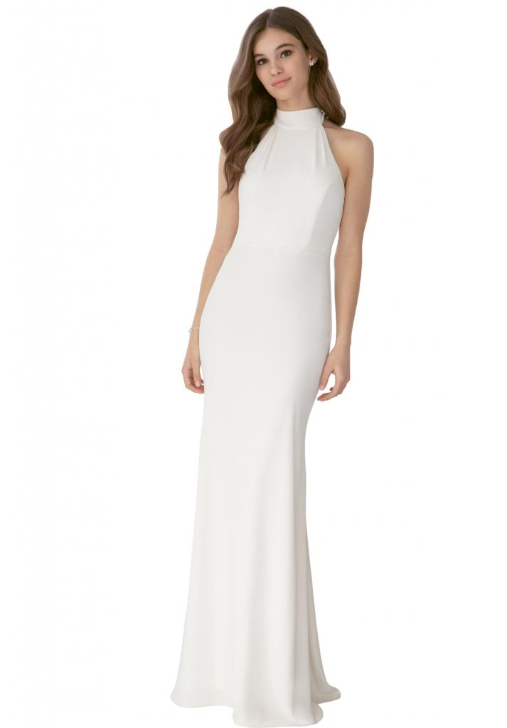 "Best for Eloping: Allure Romance's Style 3205. Why It Works: ""This bridesmaids' dress in an ivory, blush, or champagne is more casual than most wedding gowns but still feels bridal."" —Jessica Kiss, Veritá. A Bridal Boutique"