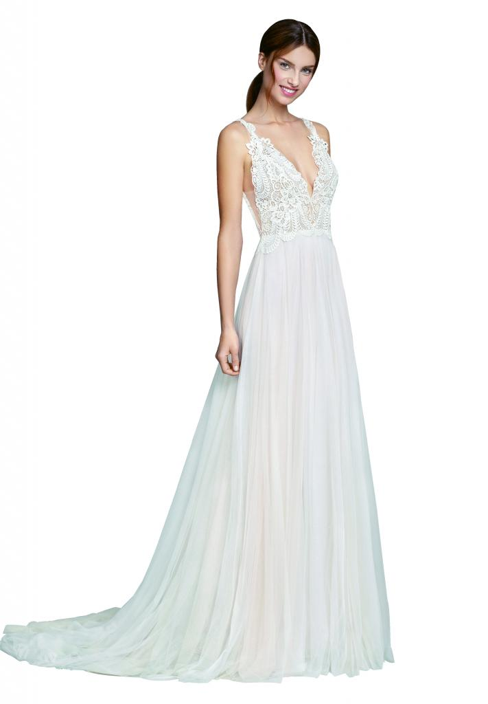 "Best for Outdoor Weddings: ""Myra"" 2857 Tara Keely by Lazaro (2857).  Why It Works: ""Ethereal Boho looks are great for outdoor weddings so the bride doesn't have a lot of dress weight to contend with."" —Jessica Kiss, Veritá. A Bridal Boutique"