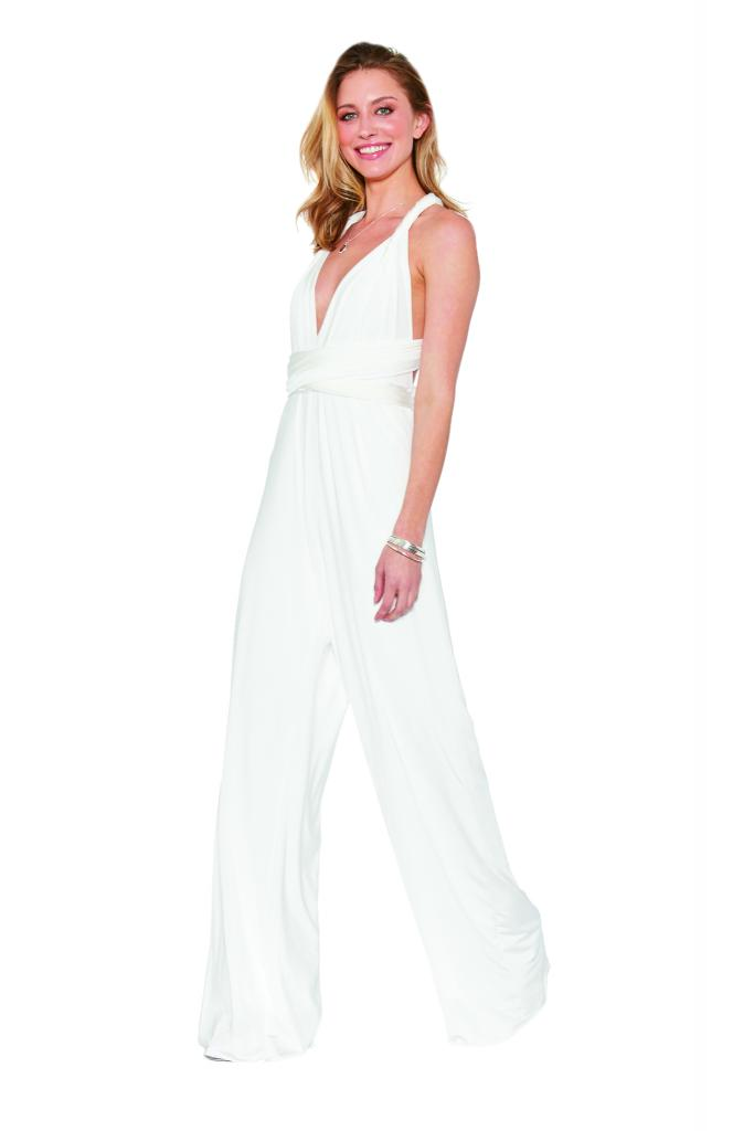 "Best for Eloping: TwoBirds' convertible jumpsuit. Why It Works: ""It's easy to wear, and comes in their classic jersey fabric or velvet."" —Lissie Summer, Bella Bridesmaids"