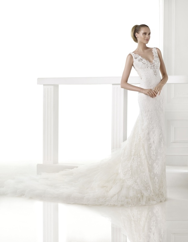 "Pronovias' ""Camai."" Available in Charleston through Gown Boutique of Charleston."