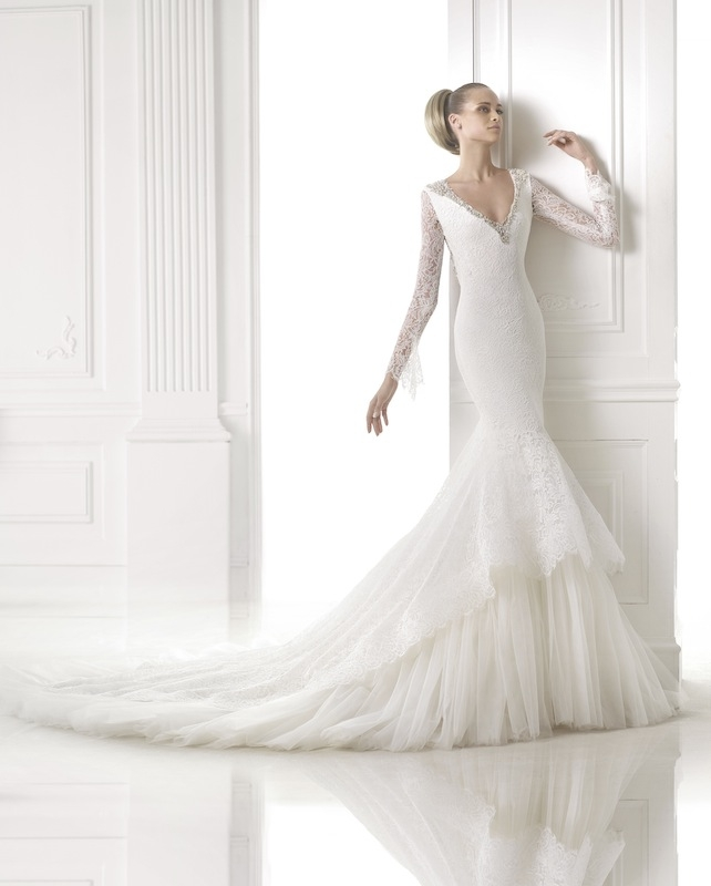 "Pronovias' ""Campanilla."" Available in Charleston through Gown Boutique of Charleston."