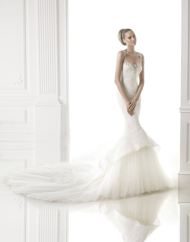 "Pronovias' ""Canace."" Available in Charleston through Gown Boutique of Charleston."