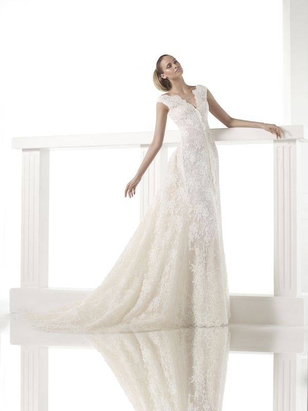 "Pronovias' ""Canberra."" Available in Charleston through Gown Boutique of Charleston."
