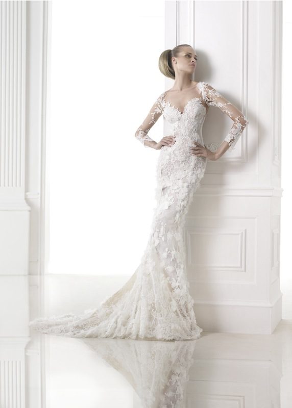 "Pronovias' ""Capricornio."" Available in Charleston through Gown Boutique of Charleston."