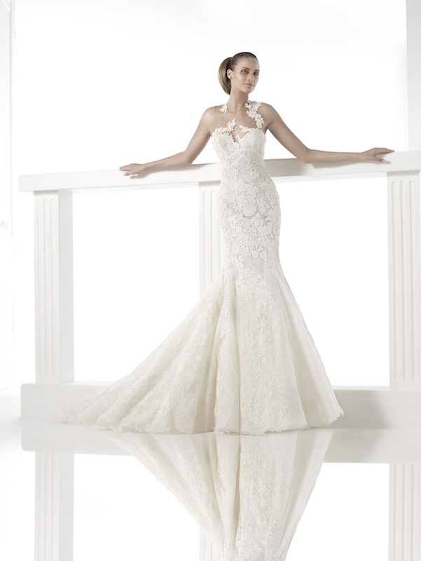 "Pronovias' ""Carezza."" Available in Charleston through Gown Boutique of Charleston."