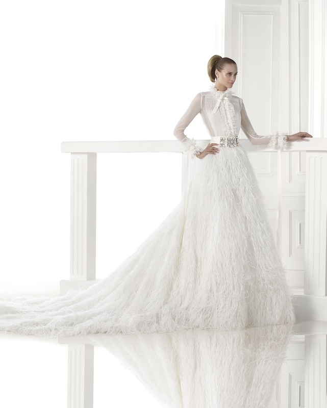 "Pronovias' ""Carmit."" Available in Charleston through Gown Boutique of Charleston."
