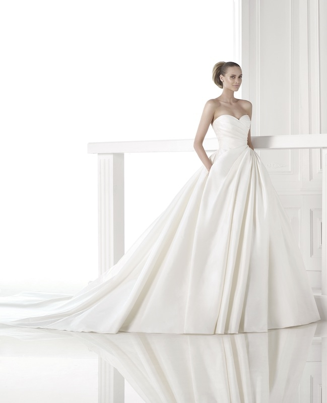 "Pronovias' ""Casey."" Available in Charleston through Gown Boutique of Charleston."