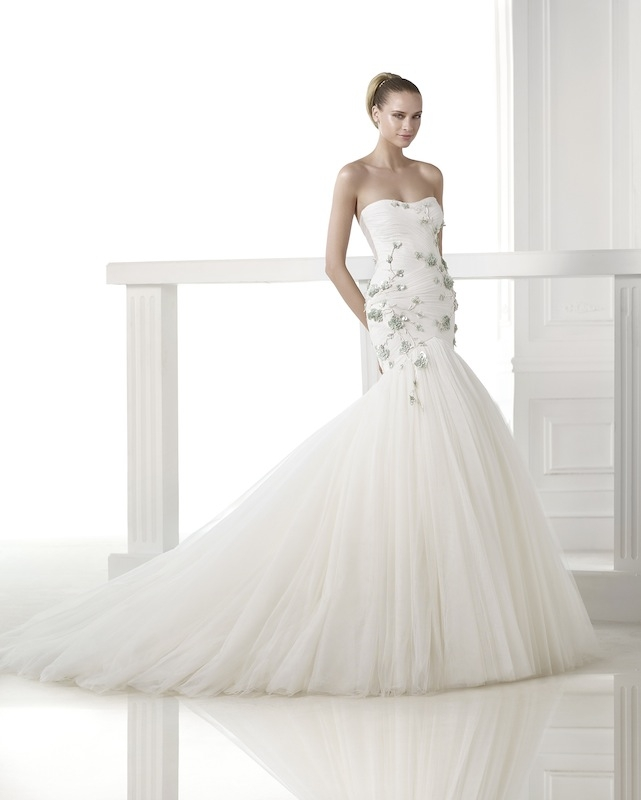 "Pronovias' ""Casilda."" Available in Charleston through Gown Boutique of Charleston."