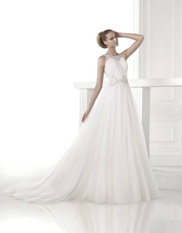 "Pronovias' ""Cassiel."" Available in Charleston through Gown Boutique of Charleston."