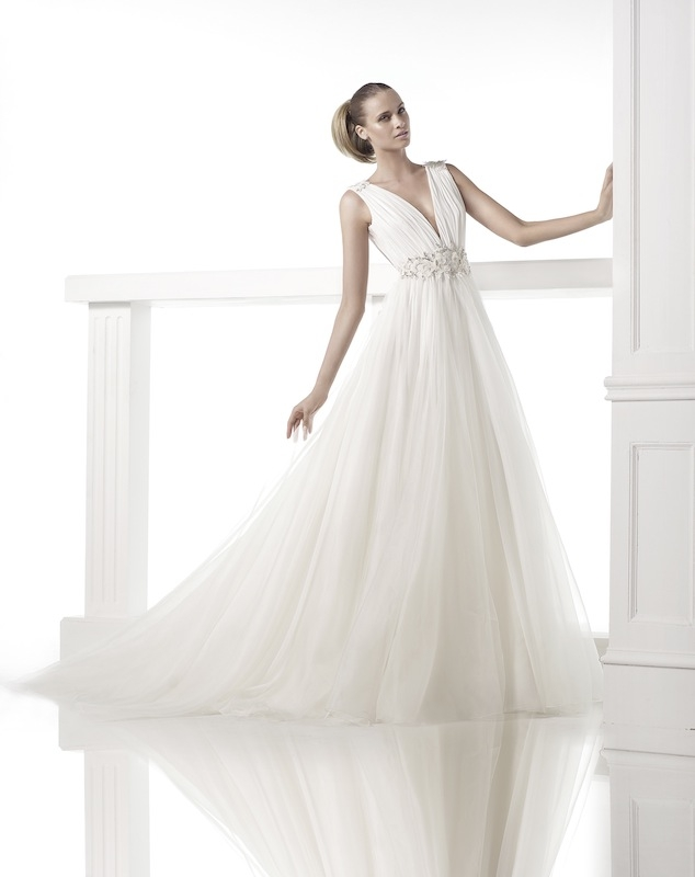 "Pronovias' ""Castillejo."" Available in Charleston through Gown Boutique of Charleston."